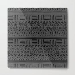 Mud Cloth on Linen Metal Print