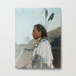 Crow's Heart - Mandan - American Indian Metal Print