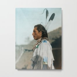 Crow's Heart - Mandan - American Indian Metal Print