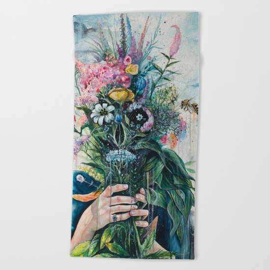 The Last Flowers Beach Towel