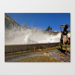 River spray Canvas Print