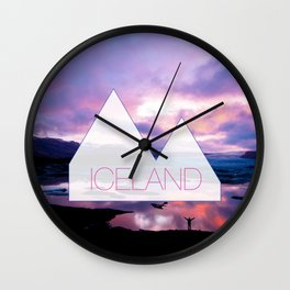 Reykjavik Boulevard #08 Wall Clock