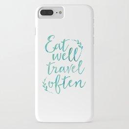 Eat well travel often iPhone Case