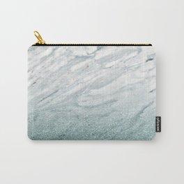 Calacatta Verde glitter gradient Carry-All Pouch