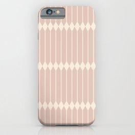 Minimal Geometric Pattern - Neutral Pink iPhone Case
