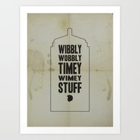 dr who Art Prints featuring Dr. Who by Megan Oliveri Designs