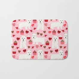 Westie west highland terrier dog breed valentines day cute dog person must have gifts pet portraits Bath Mat