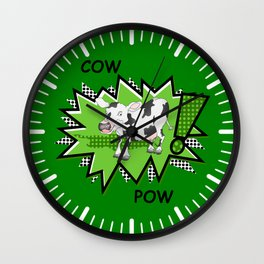 Cow Pow Wall Clock