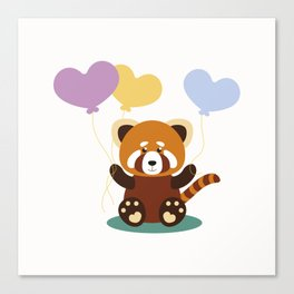 Lovely Red Panda Canvas Print