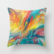 Abstract Colors II Throw Pillow