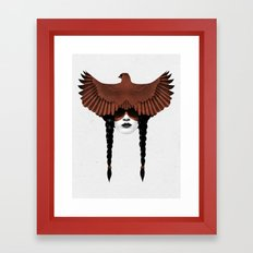 Dark Cardinal Framed Art Print