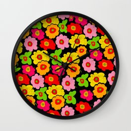Alicia Flowers Wall Clock