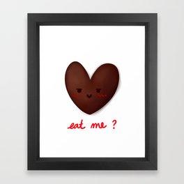 Eat Me? Framed Art Print