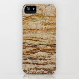 Golden brown sandstone texture iPhone Case