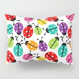 Lots of Crayon Colored Ladybugs Pillow Sham