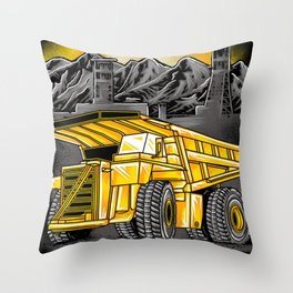 Support Coal Dump Truk Throw Pillow