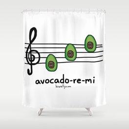 avocado-re-mi Shower Curtain
