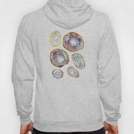 Agate Slices Plum and Teal Palette Hoody