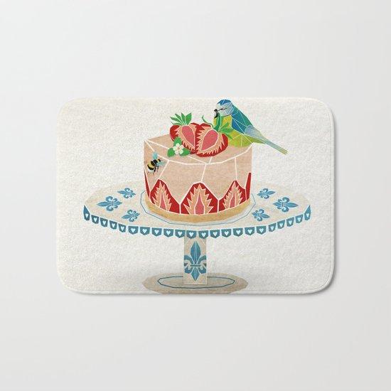 life is short, take a dessert  Bath Mat
