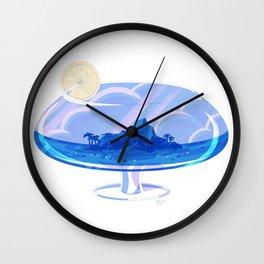 Tropical Drink Getaway Wall Clock