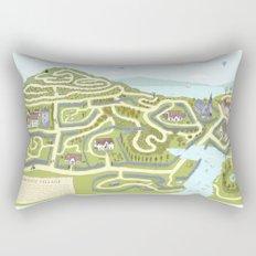 Limestone Village Maze Rectangular Pillow