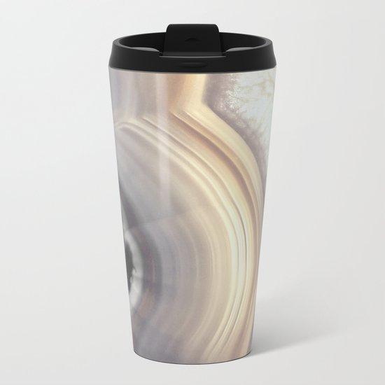 Taupe Agate Metal Travel Mug