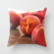Peaches for Days Throw Pillow