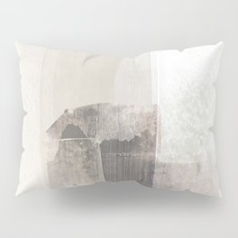Beige and Brown Minimalist Abstract Painting Pillow Sham