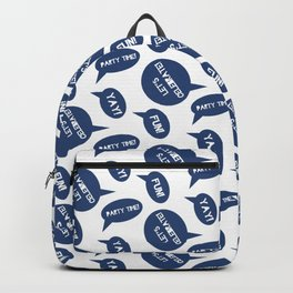 CELEBRATION PARTY TIME NAVY BLUE  SPEECH BUBBLES GOOD TIMES Backpack