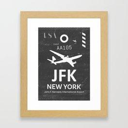 JFK Airport code New York USA Framed Art Print