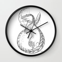T-Rex Tattoo Lace Wall Clock
