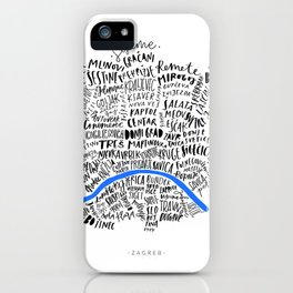 Zagreb map iPhone Case