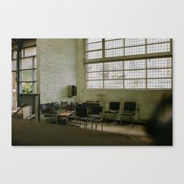 Urbex - waiting room Canvas Print