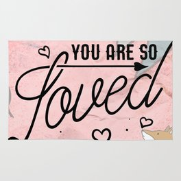You Are so Loved - Cute Valentine's Illustration Rug