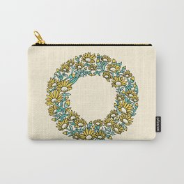 Floral Type - Letter O - Sunny Day Yellow Carry-All Pouch