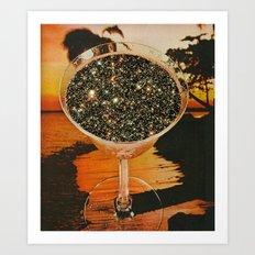 Cocktails of stars  Art Print