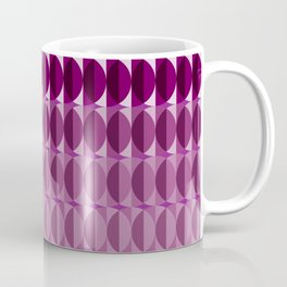 Leaves at midnight - a pattern in aubergine Coffee Mug