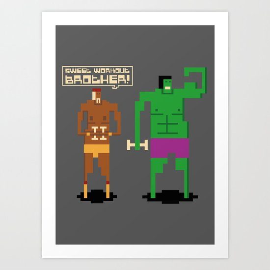Sweet Workout Art Print