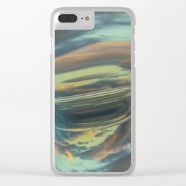 Sunrise Tornado: digital abstraction Clear iPhone Case
