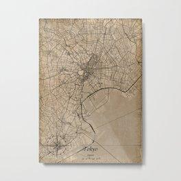 tokyo city map vintage Metal Print