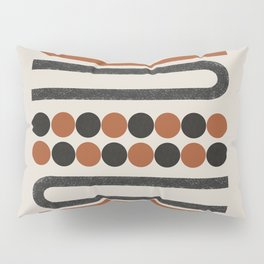 Abstract Modern Lines, Burnt Orange Art Pillow Sham