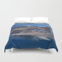 dolphins Duvet Covers featuring Dolphins by Chloe Yzoard