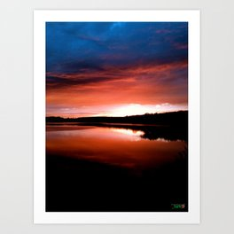 Sunset Perrysound Art Print