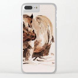 hippo Clear iPhone Case