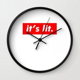 It's Lit Funny Summer Friend - Trendy Style Wall Clock