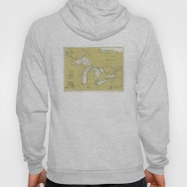 Vintage Map of The Great Lakes (1979) Hoody