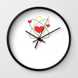 """""""I've Got My Ion You"""" T-shirt Design Love Couple Relationship Partner Science Atom Molecules Wall Clock"""