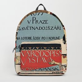 Czechoslav ethnographic exposition vintage ad Backpack