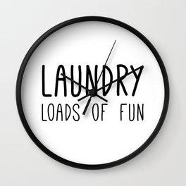 Laundry Loads of Fun Wall Clock