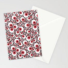 Red Eyeballs Stationery Cards